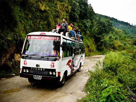 Autobus in Nepal